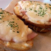 ハムチーズトーストのイメージ写真